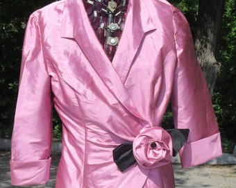 Alex Evenings Rose Vintage Jacket