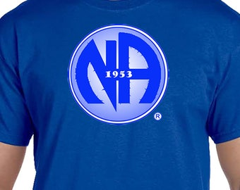 NA - BLUE 1953 SYMBOL  -  T-shirt - Color Options - S-5X - 100% cotton heat press t's   Free Shipping
