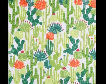 SHIPS TOMORROW -cactus crib sheet or change pad cover , cacti, succulent, free, crib bedding