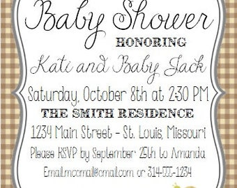 Woodland/Forest Friends Baby Shower Invite