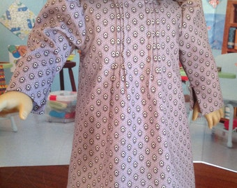 Early 1900's dress, working girls dress, lavender reproduction print dress, dress with tucks, long sleeved dress