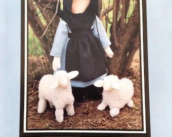 Rachel's Lambs doll pattern, fleece lamb pattern, Amish doll and clothing pattern, Sugar Camp Road pattern,  Amish doll clothing