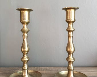 Perfectly Imperfect Vintage Brass Candlesticks !
