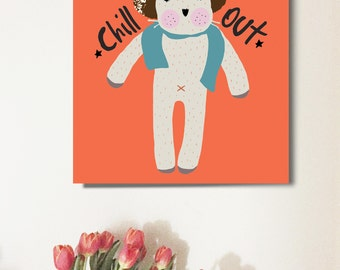 Chill out animal art prints. Nursery Wall art. Nursery Decorating Ideas. Baby Shower Gifts.