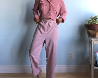 Vintage sz XL dusty rose pants