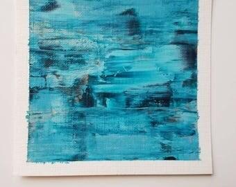 Original Abstract Art - Original Mini Painting - Mini Abstract Art - Blue Abstract Painting - Original Abstract Art - Tacoma Art Painting