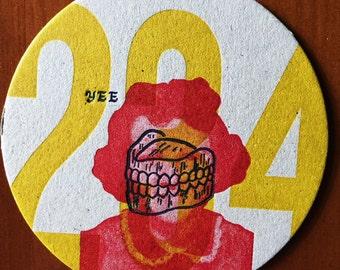 YEE Letterpress Coaster