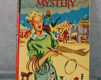 Vintage HB children's book Enid Blyton The Rilloby fair Mystery from the Barney Mysteries 1950s nostalgia
