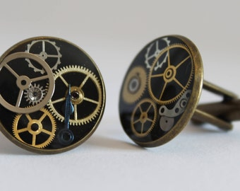 Custom Steampunk inspired Cuff Links