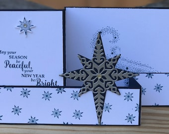 3D Christmas card, Z fold Christmas card, Christmas card, Star of Light