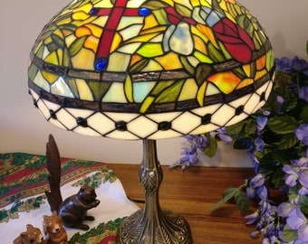 "16"" Tiffany lamp Glory Cross design (SE2-cross)"
