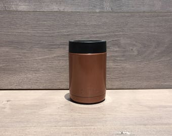 Ready to Ship! Tampa Copper Powder Coated RTIC 12 oz. Can Cooler - Stainless Steel Can Cooler - Engraved Can Cooler - RTIC Can