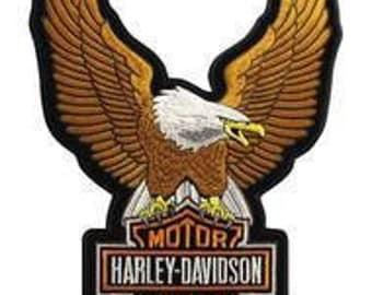 Harley Davidson Eagle Winged Large Brown Emblem Patch