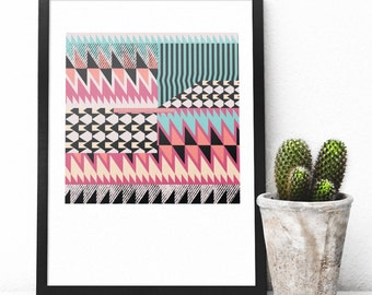 Bold Geometric Print | Signed Giclée print |Contemporary art print | Abstract print | Statement Print | Pattern home decor | Modern art