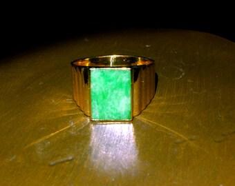 20k Vintage Jade Ring Cigar Band