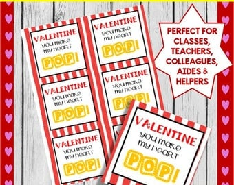 Happy Valentine's Day Printable Tags: Perfect for treats, gifts  or favors ****INSTANT DOWNLOAD*****
