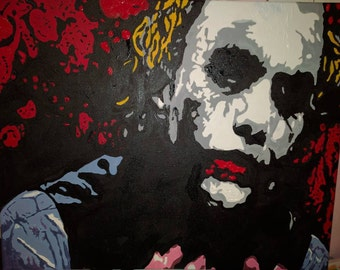 Original hand painted - Heath Ledger Joker -You complete me - Great gift wall art - painting