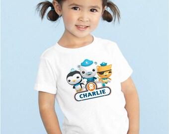 Octonauts Custom Name Tshirt Onesie Boy Girl Kids Baby Infant Children Toddler Youth Any Size
