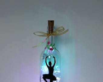 Ballerina Gifts, Bottle Light, Ballet Lover, Christmas Gift for Dancer, Dance Teacher, Ballerina Ornaments, Ballet Decor, Girls Bedroom