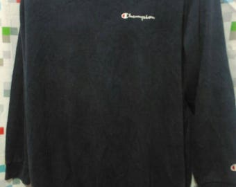Vintage Clothing 90's Rare Dark Blue Sweatshirts Champion Size XL