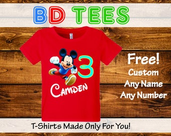 salesale Mickey Mouse birthday shirt bodysuit - Party hat - Disney Shirt.