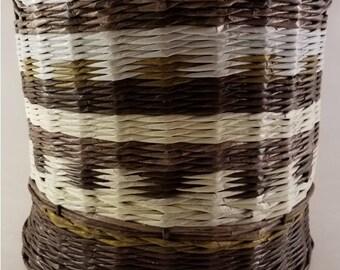 Brown White and Khaki Basket