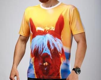 Funny shirt Llama shirt Unisex size Llama take selfie Funny shirt Animal shirt Printed shirt Llama tee Funny shirt Unisex shirt Llama GOT114