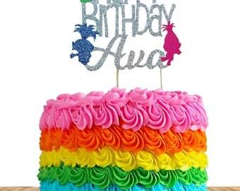 Troll Cake topper personalized , troll birthday custom cake topper, troll birthday, Troll birthday decorations, Trolls, birthdays