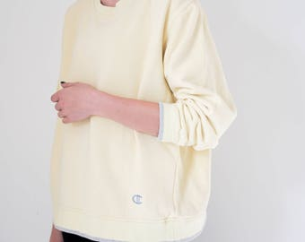1960s Sweater // Vintage Sweater // Yellow sweater // 1960s