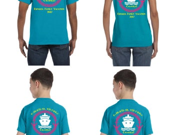 Family Cruise Shirts Set of 4; Cruise Shirt; Matching cruise shirts; Family cruise shirt
