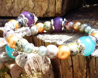 ONE-OFF DESIGNS**Beautifully Handcrafted*** Boho-Style ***Expandable Bead Bracelet***Perfect Accessory for Your Summer Wardrobe***