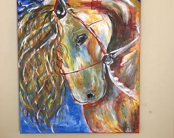 Acrylic Painting - Mystical Horse