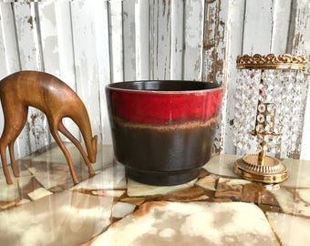 70s fat lava flower pot/Flower pot