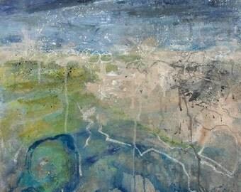 Original painting entitled 'Gull Rock'