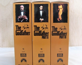 SET The Godfather Trilogy by Director Francis Ford Coppola on VHS Tapes