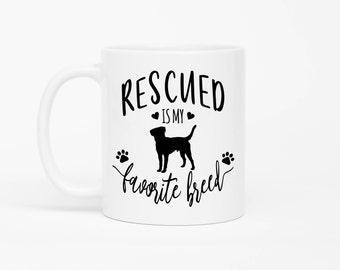 Rescued Is My Favorite Breed Mug,Rescue Mug,Dog Rescue,Dog Adoption Gift,Dog Owner Mug,Rescue Dog Mug,Rescued Dog Mug,Rescued Dog Owner Gift