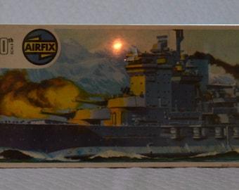 Vintage 1973 AIRFIX HMS Warspite 1/600 Scale Model