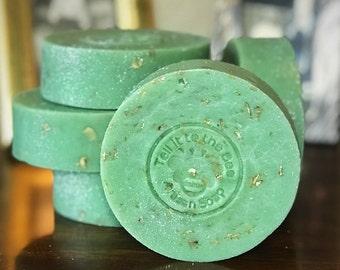Lucky Charm - Artisan Handmade Soap with Oatmeal   Vegan Friendly   Irish ~ St Patrick Day ~ Good Luck Charms   Four Leaf Clover & Glitter