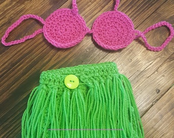 Crochet Photo Prop Hula Girl