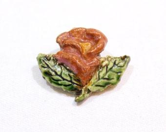 Vintage Flower Pin, Vintage Lapel Pin, Flower Brooch