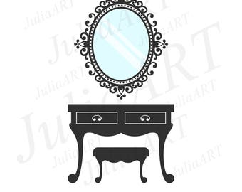 vintage table and chair retro style vector image
