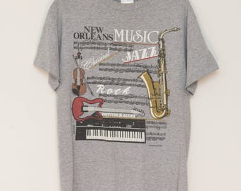 Vintage 80's New Orleans Music Festival Graphic Tee