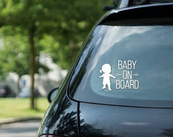Car sticker Baby on board sign, girl, vinyl on decal paper, car decal, kid on board