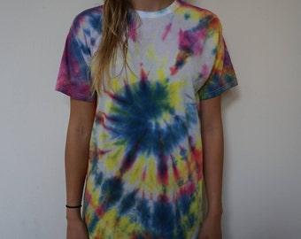 Neon Spiraled Tie Dye shirt