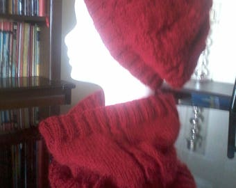 woman angora wool snood