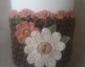 Coffee Sleeve/Crochet Cup Sleeve/Personalized Cup Sleeve/Reusable Cup Sleeve/Birthday Gift/Teacher Gift/Mother's Day Gift/Gift/Cup Cozy/