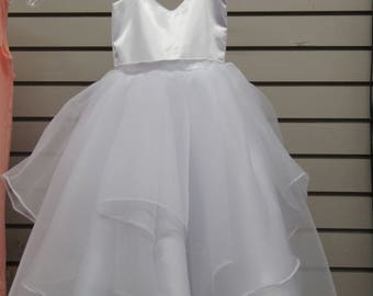 Girl's White Dress