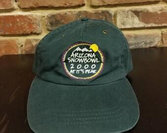 Vintage 2000 Arizona Snow Bowl Adjustable Strap Hat