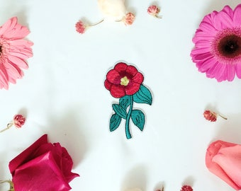 rose patch-flower patch-iron on patch -embroidered patch-patch for jacket -DIY-gorgeous