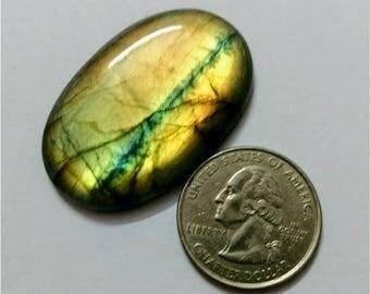 41.50 x 26.75 mm,Ovel Shape Labradorite Cobochon/Multy Golden Flash/wire wrap stone/Super Shiny/Pendant Cabochon/Semi Precious Gemstone/cabs